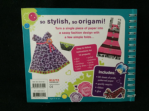 Fashion Origami: Fold Dazzling Designs (Klutz)*NEW