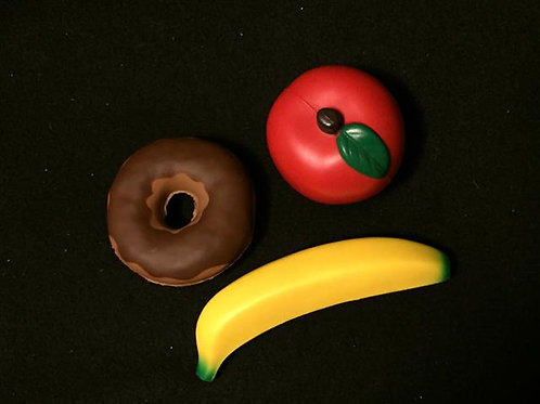 Squishy Soft Playfood Set - Banana, Apple and Donu