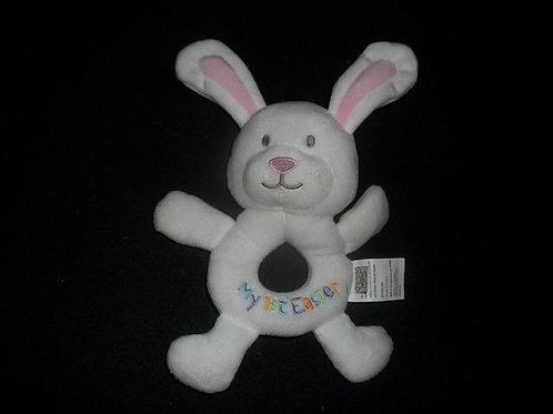 Easter Bunny Ring Rattle - Plush/Washable