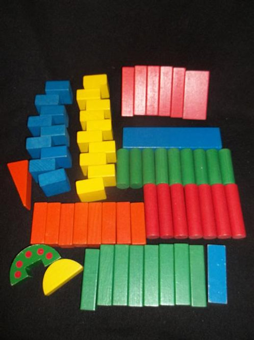 Colored Wooden Block Set Lot #1