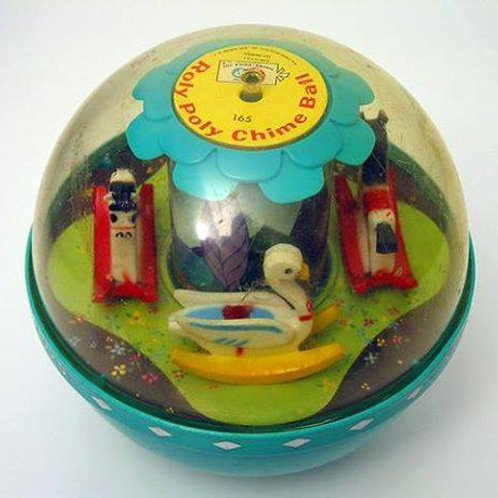 Fisher Price Roly Poly Chime Ball (Vintage 1966)