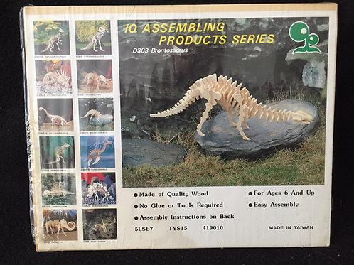 Dino Wooden 3D Puzzles Brontosaurus *NEW