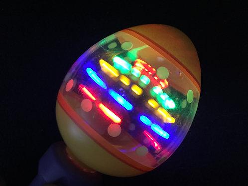 Light Up Spinning Egg Easter Toy