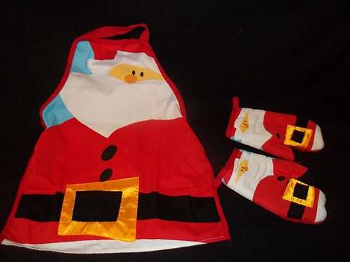 Kids Apron with 2 oven mitts