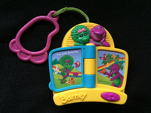 Mattel 2002 Barney Musical Toy with Clip