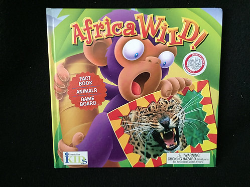 AFRICA WILD! Fact Book, Animals and Game board