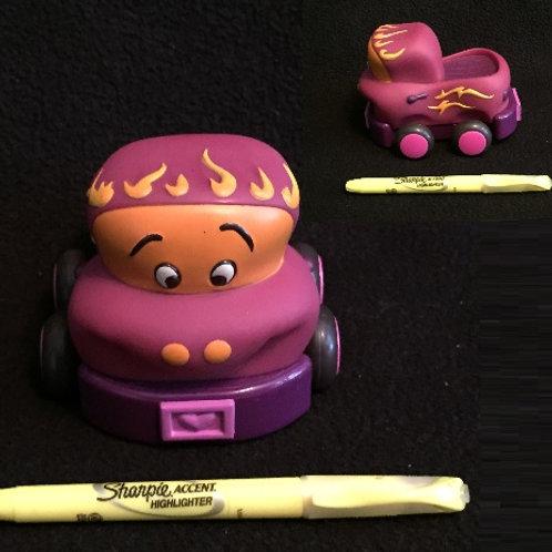 Wheeee Pull Back Car - Purple/Pink