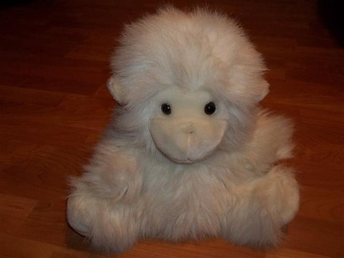 Happiness Always White Monkey Hand Puppet