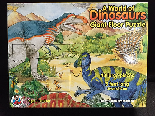 A World of Dinosaurs Giant Floor Puzzle 48 Large Pieces (5 Feet Long) Ages 4+