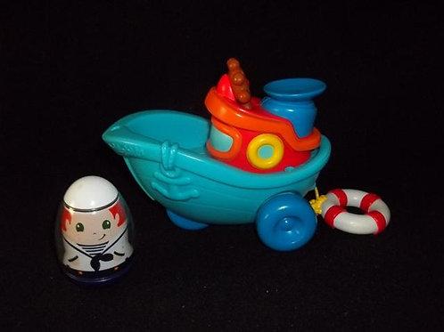 Hasbro Playskool Weebles Tug Boat