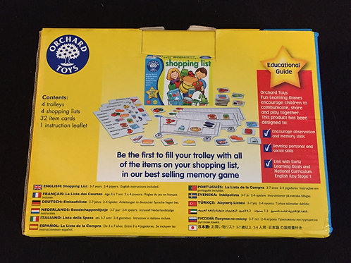 Shopping List Memory Game
