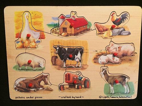 Melissa & Doug Easy-Grasp Peg Puzzle Farm Peg