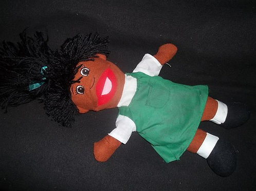 African-American girl puppet
