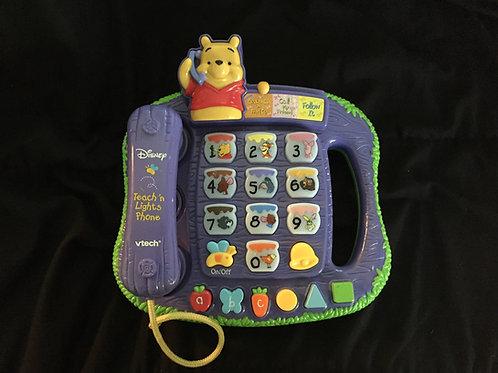 VTech - Winnie The Pooh - Teach 'n Lights Phone
