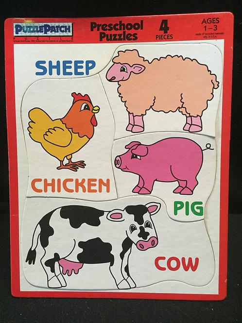 Puzzle Patch Preschool Puzzle - Farm Animals