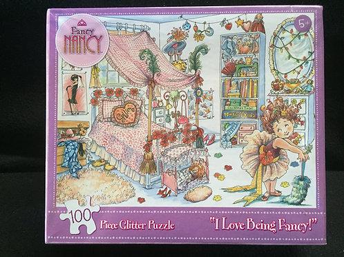 Fancy Nancy I love Being Fancy 100 Piece Glitter Puzzle*NEW
