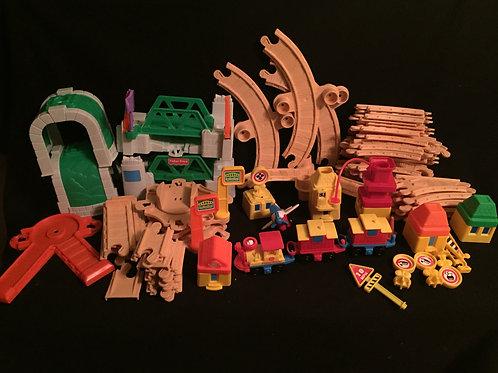 Fisher Price Flip Track Rail & Road Train Play