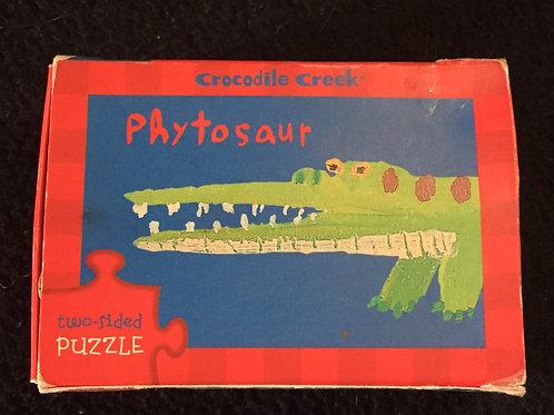 Crocodile Creek Two-sided Puzzle Stegosaurus/Phyto