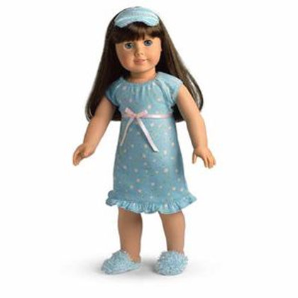 American Girl Blue Floral Nightgown