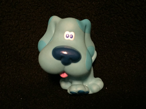 "1998 Blue Puppy Dog Sitting 2.5"" PVC Plastic Action Figure Tyco Blue's Clues"