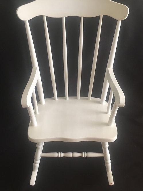 Kloris Youth White Rocking Chair