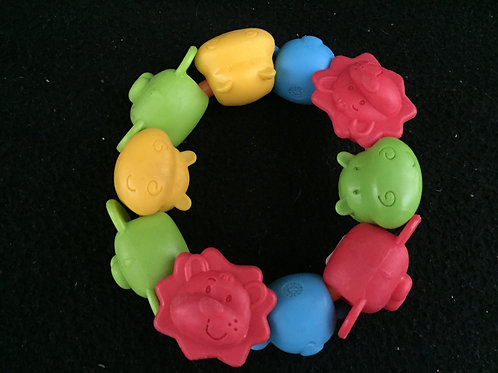 Infantino Chunky teething ring - Animal faces