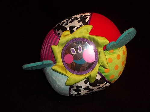 Infant Cloth Giggling ball with mirrored fa