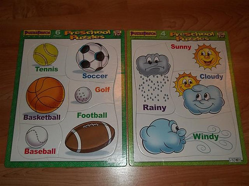 Puzzle Patch Weather and Sports Puzzle Ages 1.5 +