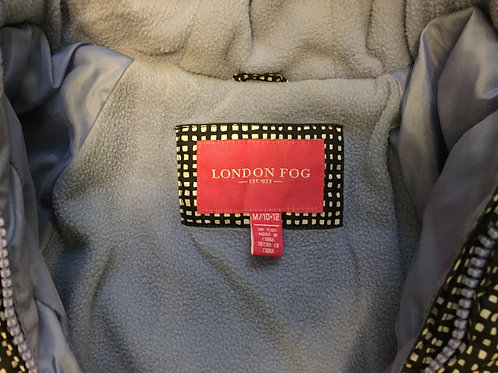 Girls London Fog Puffer Coat Size 10/12