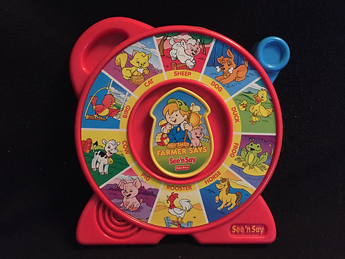 Fisher Price Farmer The Farmer Says See N Say (RED