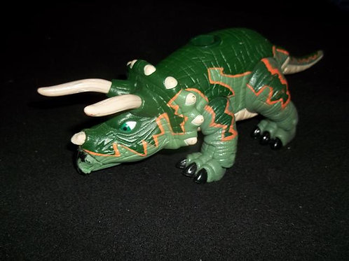 Fisher Price Imaginext Green Triceratops Dinosaur