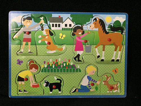 People and Pets Peg Puzzle