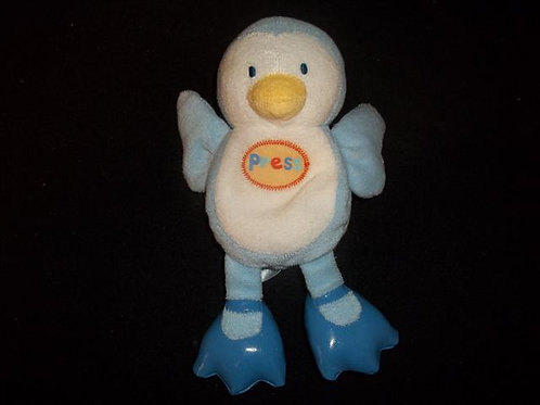 Carters Starters Soft Baby Penguin Press the tummy