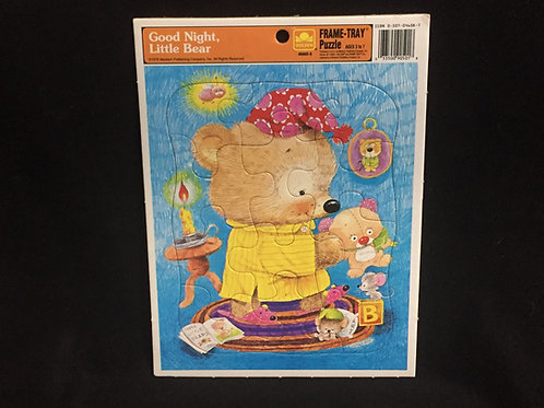 Good Night, Little Bear -  GoldenVintage Frame Tray Puzzle 1979 12 pieces