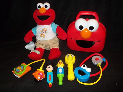 Check up time elmo with elmo giggle doctor kit