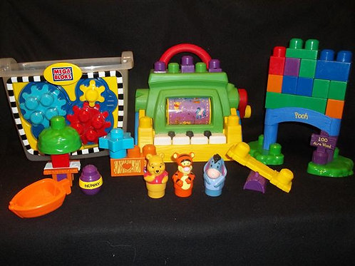 Mega Bloks Disney Winnie The Pooh Mega Blok Lot