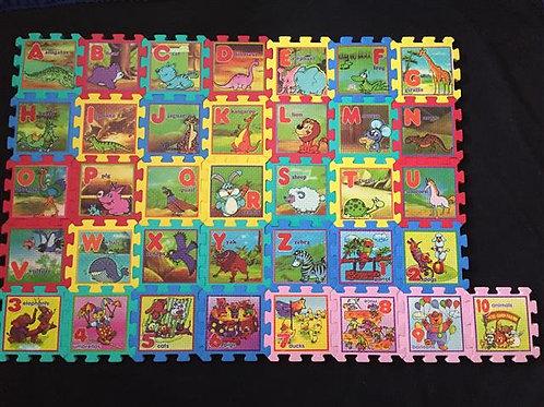 Alphabet & Numbers Foam interlocking puzzle mats