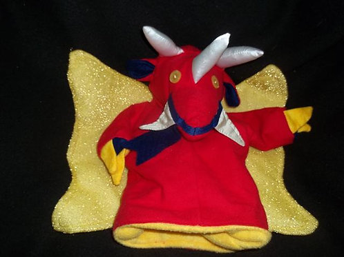 Red/Gold winged puppet