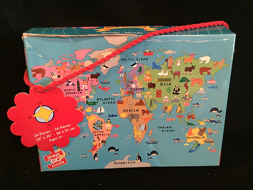 World Map Floor