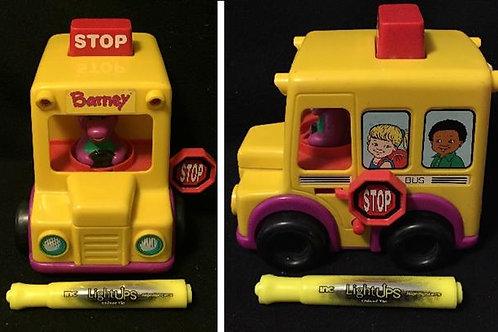 Barney School Bus Press N Go