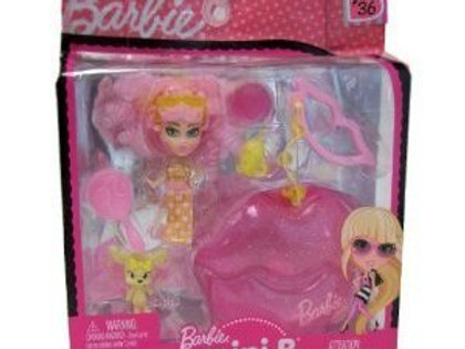 Barbie Mini B. #36 Doll with Pink Lips Case *NEW