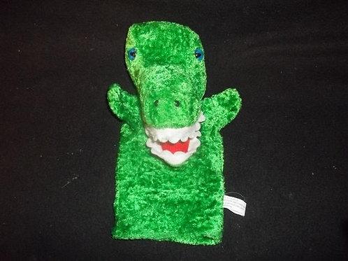 Dinosaur Puppet - Green / Blue eyes -