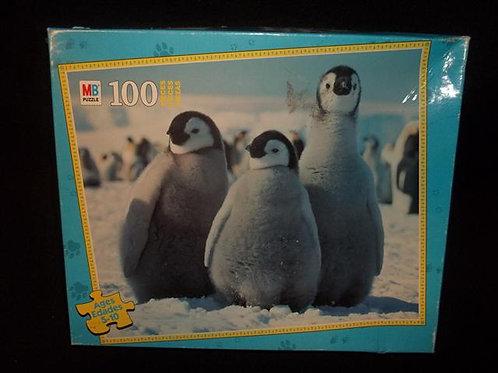 MB Penguin Puzzle 100 Piece Junior Puzzle