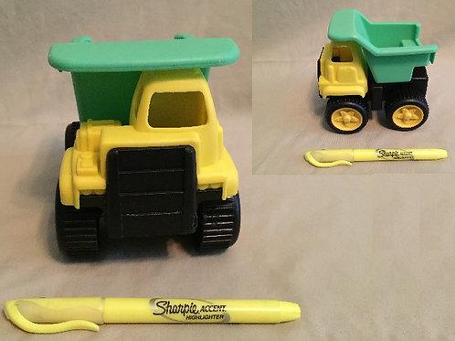 Yellow/Green Construction Truck