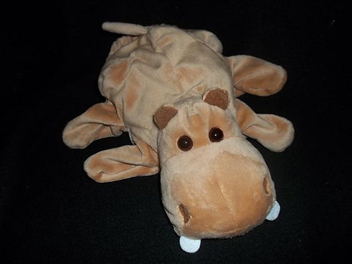 Dream Puppets Plush Brown Hippo Hand Puppet
