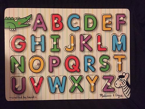 Melissa & Doug Fresh Start Peg Puzzle See-Inside Alphabet