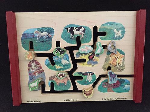 Melissa and Doug Wooden Farm/Zoo Slider N Seek