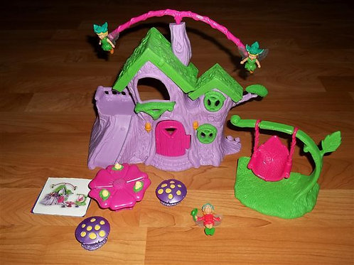 Fairy Playset-comes with house,3 fairies, swing, t