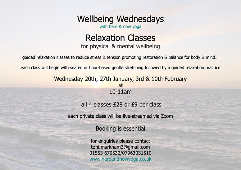 Wellbeing Wednesdays Relaxation Classes