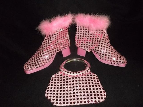 Dress up Boots with matching purse-Adjustable